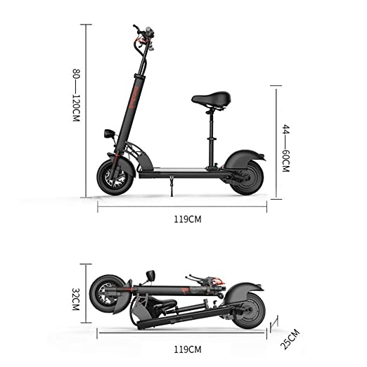 IG Mini Scooter eléctrico plegable para adultos Batería de ...