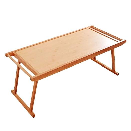 WPCBAA Mesa Plegable de bambú Snack Tea Mesa de Comedor portátil ...