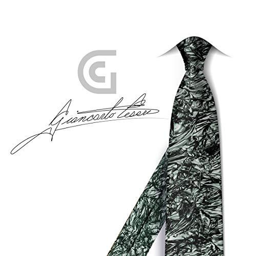 Fiorenza Collection - Fiorenza Handmade Silk Mens Designer Ties : Collection Giancarlo Cesari (Olive Black / 3 inch width)