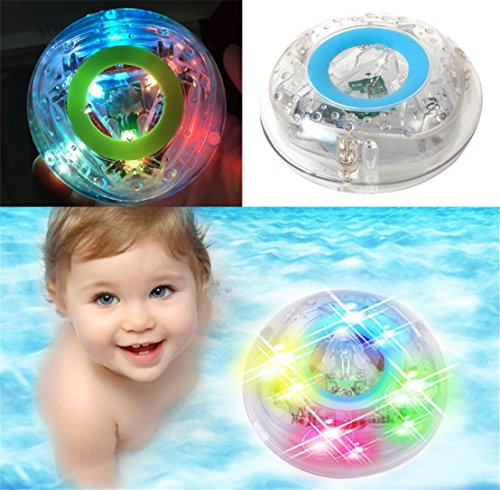 FULLIN Bath LED Light Toys Bathroom Bathing Tub LED Lights Toys Waterproof Toys For Kids