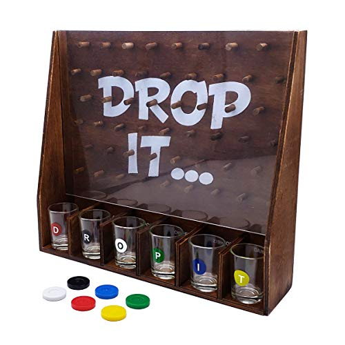 GIFTS INFINITY Entertaining Party Drinking Game (Drop It Wood)