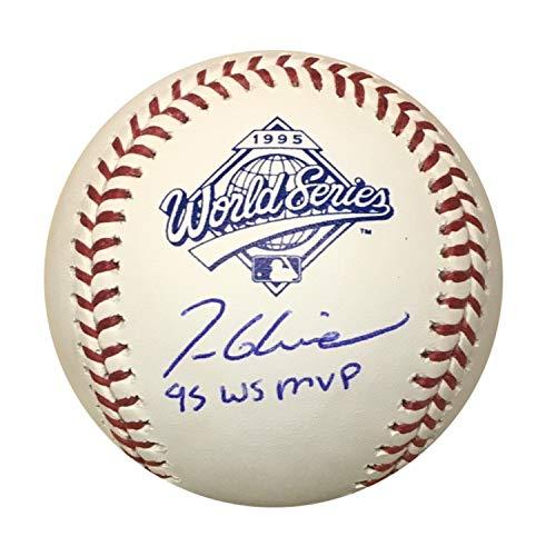 (Tom Glavine Atlanta Braves Autographed 1995 World Series MVP Signed Baseball JSA COA With UV Display Case)