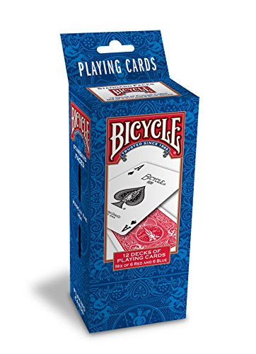 Bicycle 1030648 Poker Size Standard Index Playing Cards, 12 Deck Player's - Brands Sports Eyewear