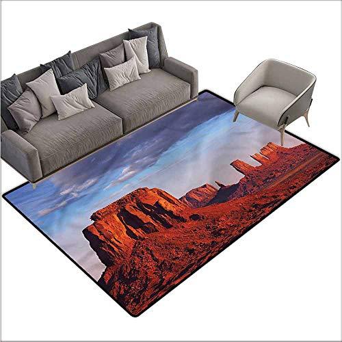 Designed Kitchen Bathroom Floor Mat Colorful USA,Monument Valley Sandstone Utah 60