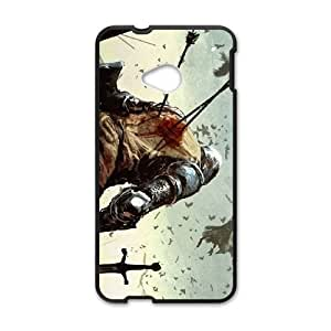 battlefield painting HTC One M7 Cell Phone Case Black cover xx001-3048762