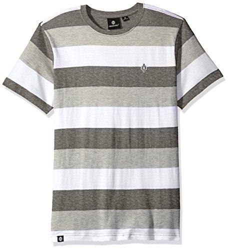 Akademiks Mens Short Sleeve Striped Top
