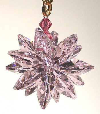 Small Austrian Crystal - Rose Small Suncluster with Austrian Crystal