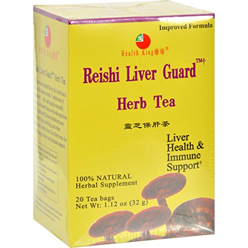 Health King Reishi Liver Guard Herb Tea - Immune Support - 20 Tea Bags (Pack of 2) (Reishi Liver Guard Herb Tea)
