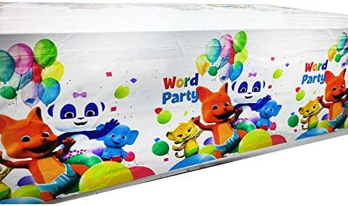 163PCS Word Party Party Favor Party Decorations, Word Party Birthday Party Supplies, Flatware, Spoons, Fork, Knife, Plates, Cups, Table Covers, Banner, Napkins, Cake Toppers, Balloons, Tablecloth Birthday Party Favor Pack Set for Kids Boy and Girls