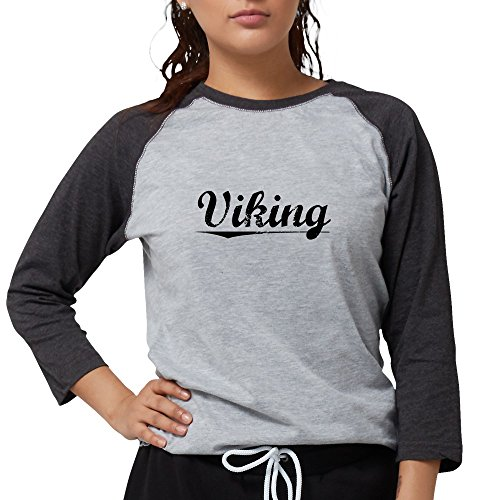 - CafePress Viking, Vintage Long Sleeve T-Shirt - Womens Baseball Tee