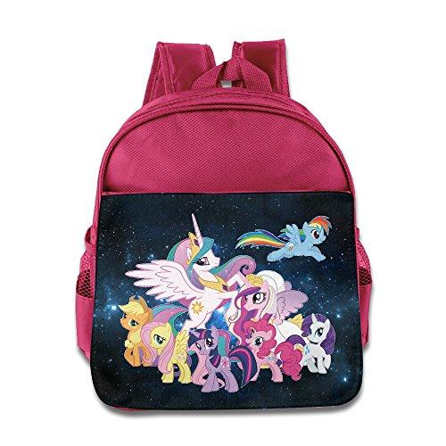 [My Little Pony Kids School Pink Backpack Bag] (Rainbow Dash Human Costume)