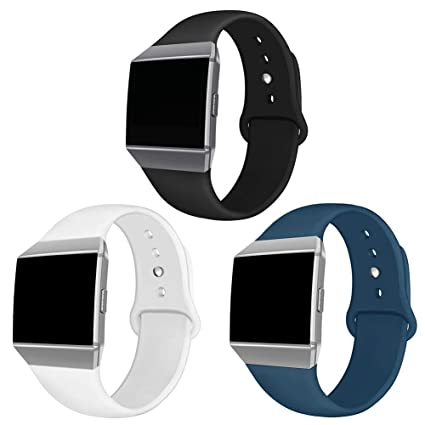 NAHAI Compatible Fitbit Ionic Bands, Soft Silicone Replacement Strap Accessory Breathable Wristbands for Fitbit Ionic Smart Watch, Large Small