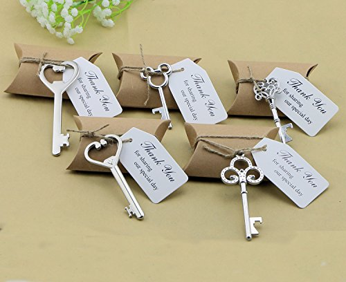 50pcs Wedding Favors Candy Box w/ Antique Skeleton - Wedding Favors Silver