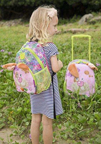 okiedog wildpack junior 86012 trolley para niños DINOSAURIO, rojo LIEBRE rosa