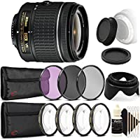 Nikon AF-P DX NIKKOR 18-55mm f/3.5-5.6G VR Lens for Nikon DSLR Cameras w/ Accessories