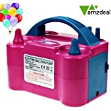 Amzdeal 600w gonfleur électrique ballon électrique pompe de gonflage deux buses d'air du ventilateur portable