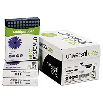 Universal Copy/Laser Paper, 98 Brightness, 20lb, Letter, Bright White, 5,000 Sheets/Carton (95200)