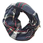 Pretty-Simple-Plaid-Button-Blanket-Scarf-Shawl-Womens-Wrap