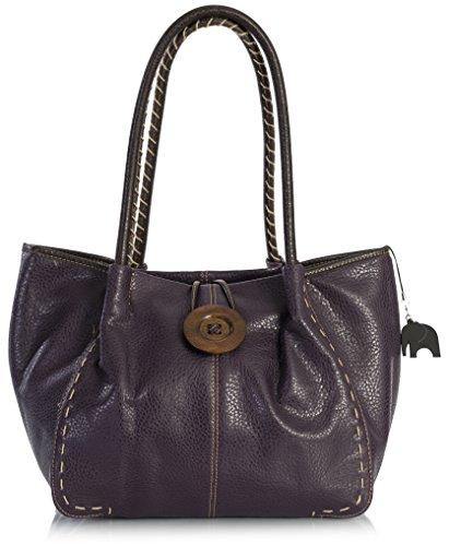 Big Handbag Shop - Bolso al hombro de sintético para mujer One BHSL - Deep Purple