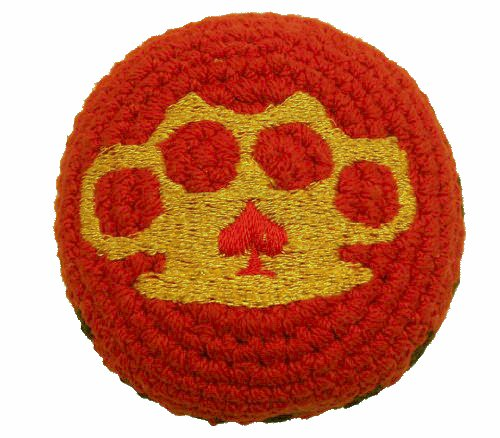 Hacky Sacks / Footbags, Crocheted or Embroidered, Hand Made in Guatemala, Comes with Tips & Game Instructions (Brass Knuckles, Embroidered)