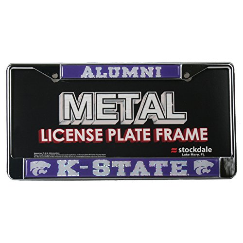 Kansas State Wildcats Alumni Metal License Plate Frame W/domed Insert (License Plate Frame Kansas State compare prices)