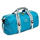 OUTRY Foldable Travel Duffle Bag, Lightweight Sports Gym Duffel Bag, 30L(8gal) (Blue)