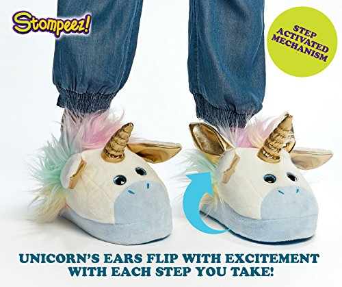 79bd5ff780a Stompeez Animated Unicorn Plush Slippers - Ultra Soft and Fuzzy - Ears Flap  as You Walk - by - Buy Online in UAE.