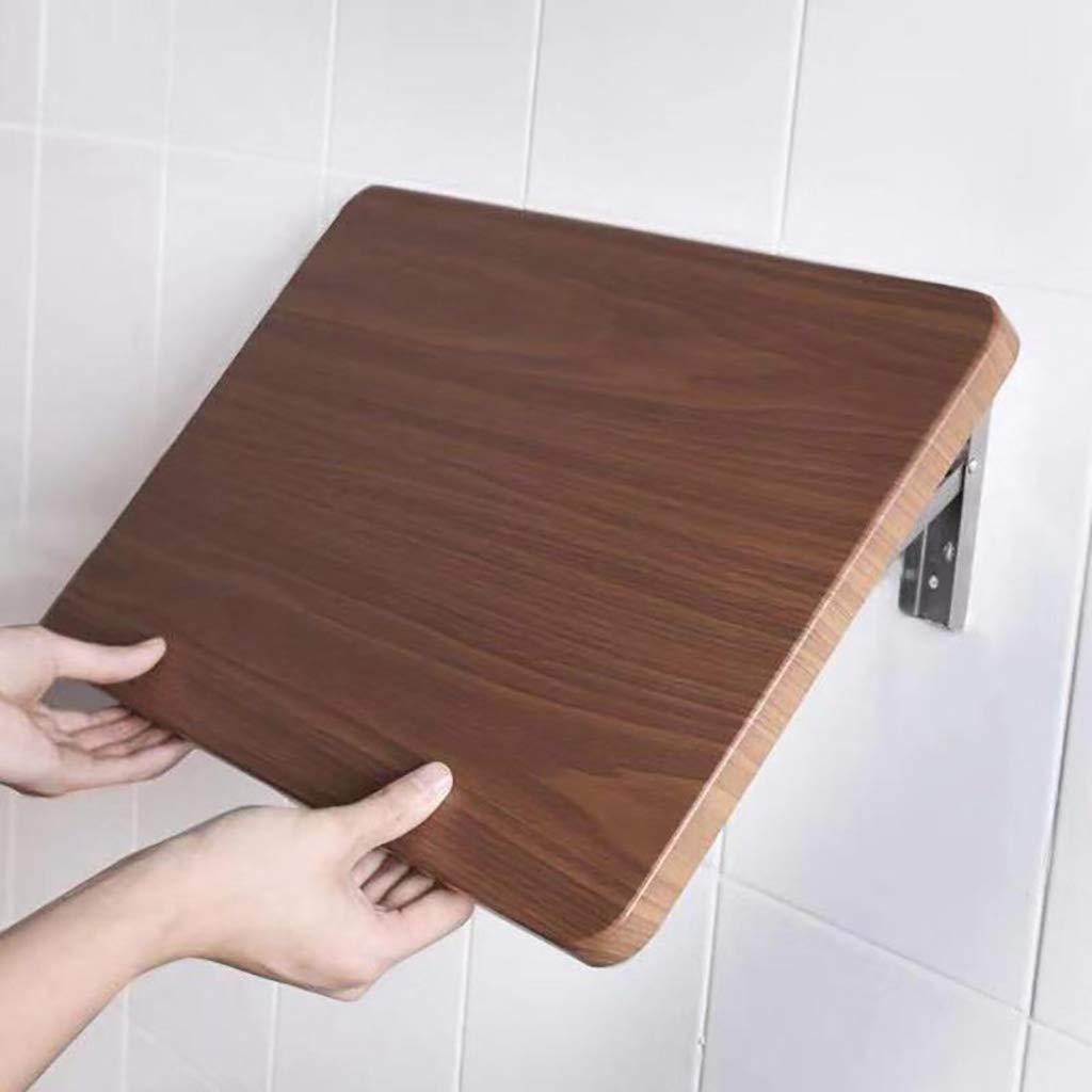 ZCJB Folding Shelf Punch Free, Kitchen Wall Shelf, Bathroom Wall Hanging Shelf, Folding Table, E1 MDF, Stainless Steel Bracket (Size : L80XW41CM)