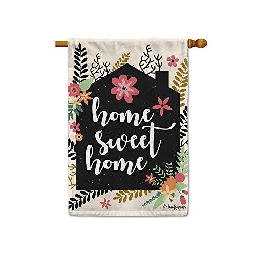 KafePross Home Sweet Home Flowers Spring Summerdecorative House Flag for Outdoor 28
