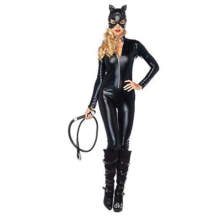 Disfraz Catsuit Sexy Traje De Gato Traje Patentar Cuero ...