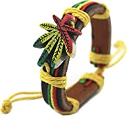 Weed Bracelet Bob Marley Bracelet Friendshiping Bracelet Reggae Rasta Stripe Wrist Band Bracelet Wristband Jam