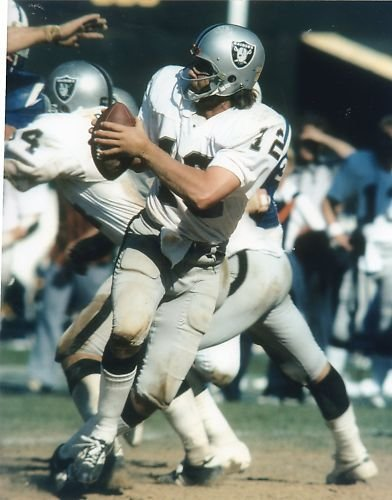 KEN STABLER OAKLAND RAIDERS UNSIGNED 8X10