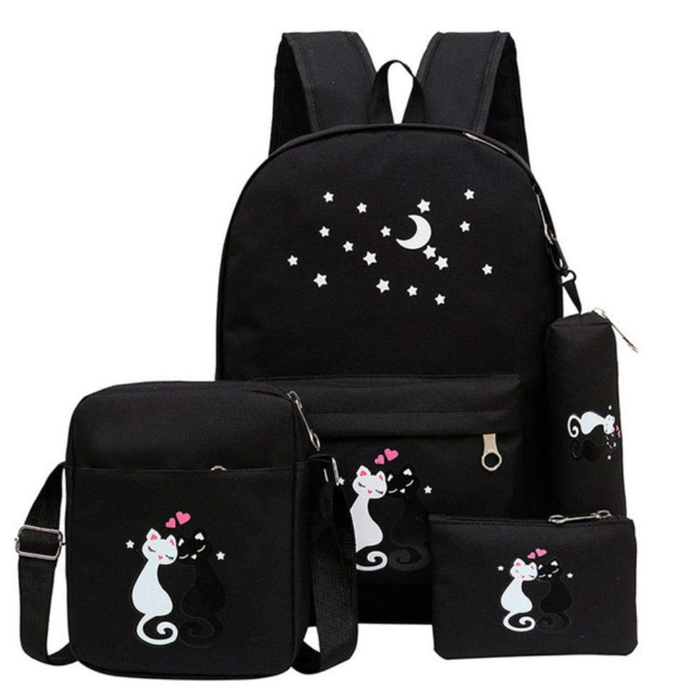 Durable Waterproof Backpack, Cute Cat Embroidery Kids Backpack School Bag for Girls Student Book Bag Kids Schoolbag Cool Primary Children Bookbags 17.7x12.6 Inch by Boris Felix