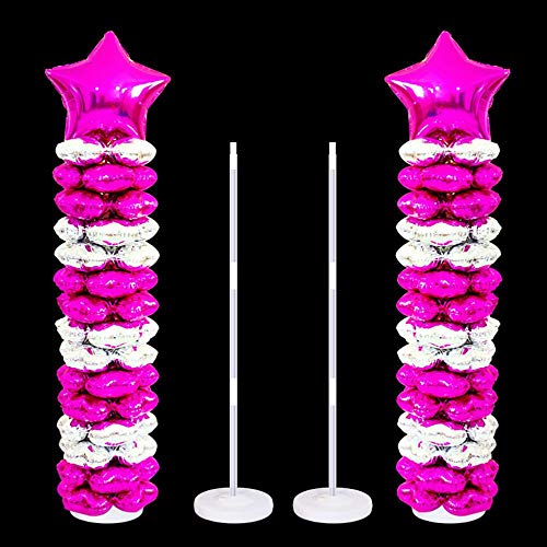 Leegoal Balloon Column Kit Base Stand, 40/50-inch High DIY Balloon Column Stand Kits for Birthday Party Wedding Party Event Decorations