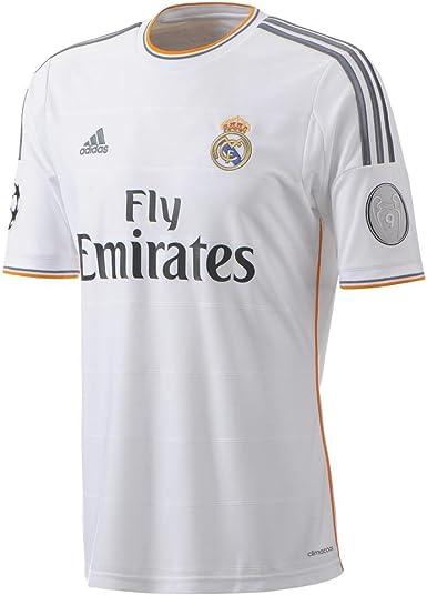 adidas Camiseta Real Madrid Champions 1ª 2013-14: Amazon.es: Deportes y aire libre
