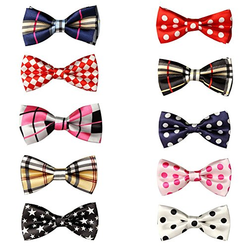 GOGO Pet Bow Tie Collar, Pet Supplies, 10 PCS Assorted SET4