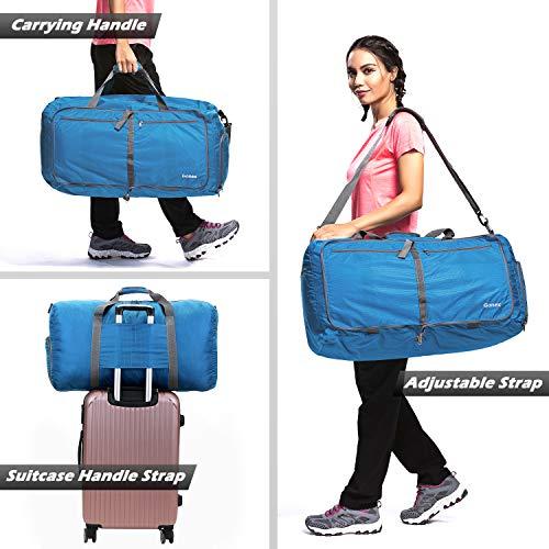 Gonex 80L Packable Travel Duffle Bag, Large Lightweight Luggage Duffel (Blue)