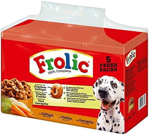 Frolic Complete Hundefutter Geflügel, Gemüse und Reis, 1 Packung (1 x 7,5 kg)