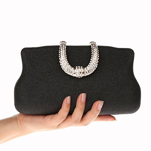 Clutch Shining Tote Black Shoulder Handbag Gold Purse Bags as described Crossbody Messenger Baoblaze Fashion Women Chain wqPfPH