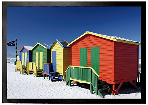 Beaches Door Mat Floor Mat - Colourful Beach Huts In South Africa (28 x 20 - In Africa Huts