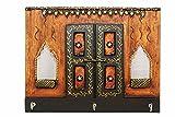 Indian Handicrafts Export Jharokha Style Wooden Key Holder (K Window Key Stand)