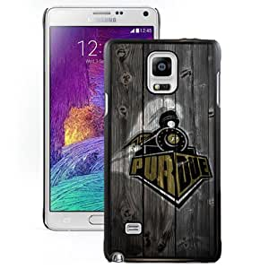 Fashionable And Unique Custom Designed With Ncaa Big Ten Conference Football Purdue Boilermakers 8 Protective Cell Phone Hardshell Cover Case For Samsung Galaxy Note 4 N910A N910T N910P N910V N910R4 Black