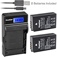 Kastar Battery (X2) & SLIM LCD Charger for Nikon EN-EL20, ENEL20, EN-EL20a and Nikon Coolpix A, Nikon 1 AW1, 1 J1, 1 J2, 1 J3, 1 S1, 1 V3, and Blackmagic Pocket Cinema Cameras