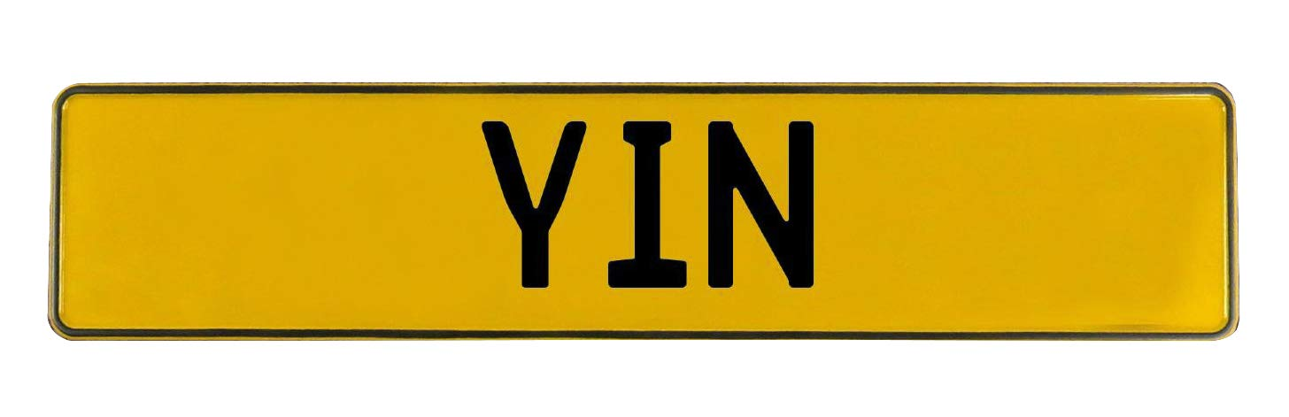 Yin Yellow Stamped Aluminum Street Sign Mancave Vintage Parts 784381 Wall Art
