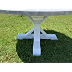 Handmade Rustic Round Gray Farmhouse Dining Table