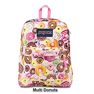 JanSport Superbreak Colorful Print School Backpack B1023: Multi Donuts