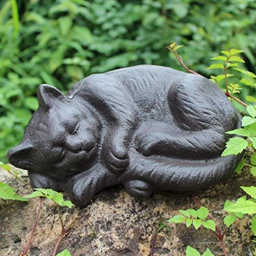 Always insist on success Home Retro Sleeping Cat Decoration Ornaments Cast Iron Crafts Bar Club Courtyard - Iron Cast Ornaments