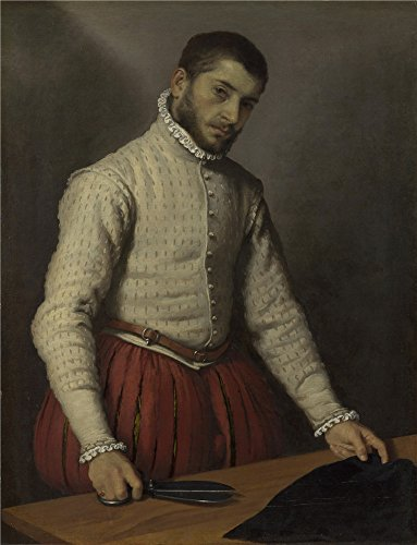 Oil Painting 'Giovanni Battista Moroni The Tailor (Il Tagliapanni)', 24 x 31 inch / 61 x 80 cm , on High Definition HD canvas prints is for Gifts And Basement, Home Office And Powder Room Decoration