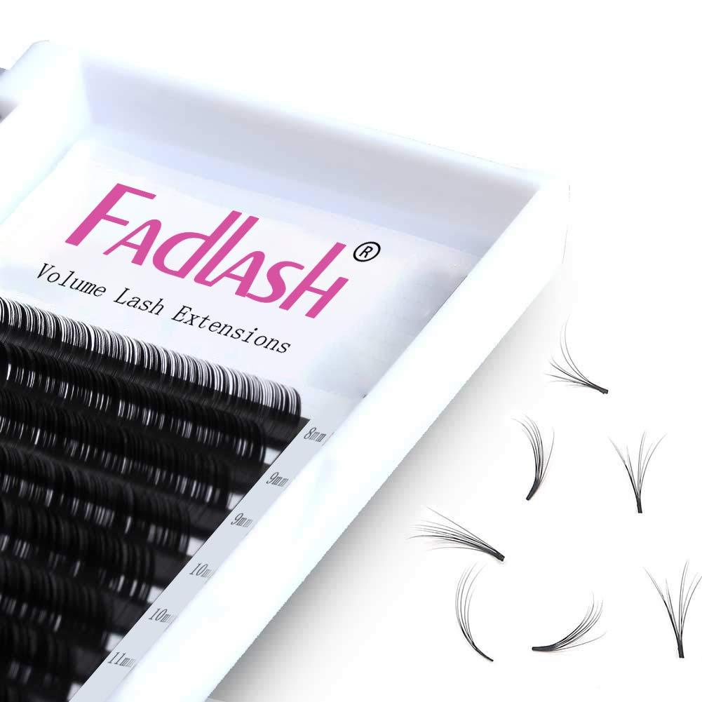 ce46d88059c Amazon.com : Volume Lash Extensions 2D 5D 6D~10D Cluster Lashes D Curl  0.10mm 18mm Knot Free Individual Eyelashes 4D 7D 8D Professional Flare  Lashes : ...