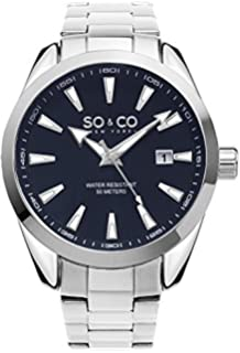 SO & CO New York Mens Specialty HN5039B.2 Madison Stainless Steel Link Bracelet Watch